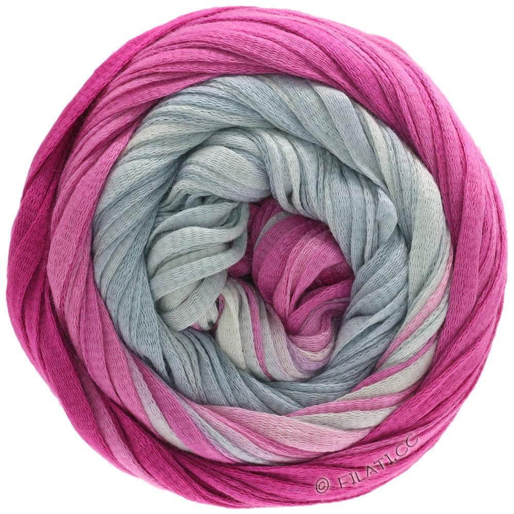 Lana Grossa PRIMAVERA | 201-gris argent/blanc gris/lilas tendre/cyclamen