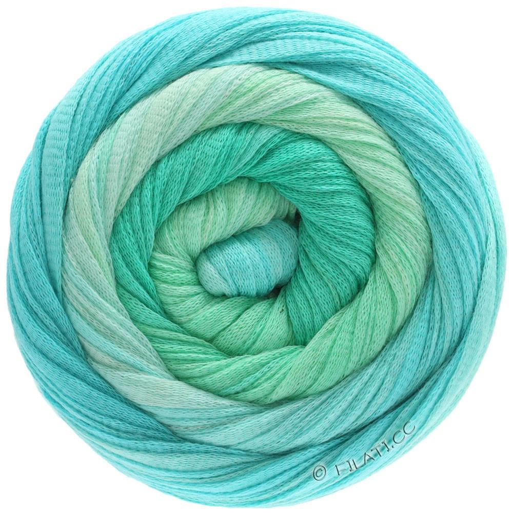 Lana Grossa PRIMAVERA | 204-turquoise/vert pastel/feuille verte