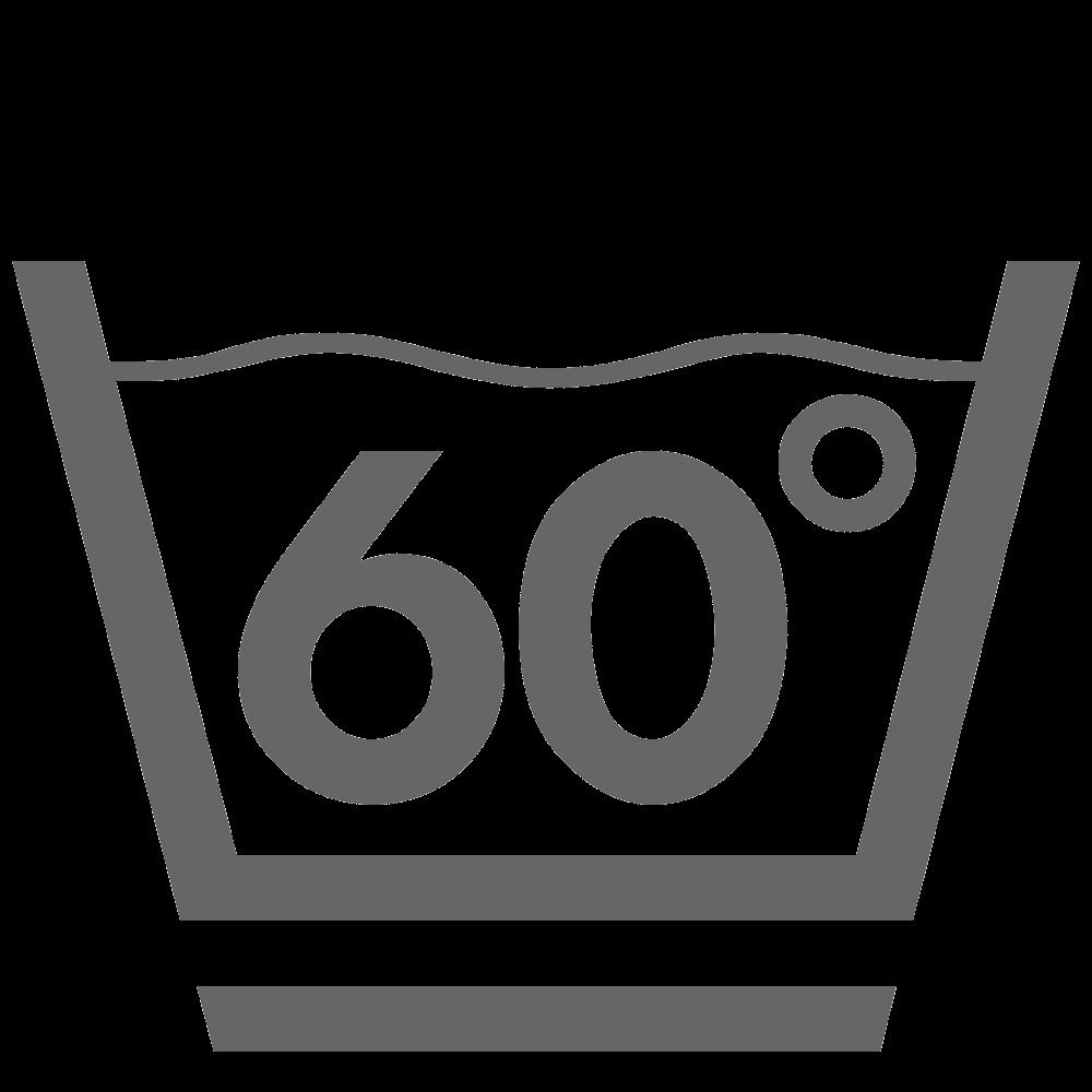 Lavage 60°C (doucement)