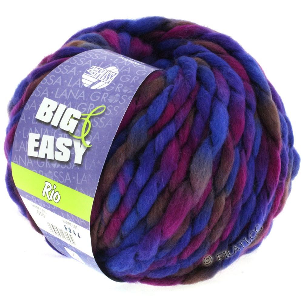Lana Grossa RIO (Big & Easy)   10-violet bleu/violet rouge/prune