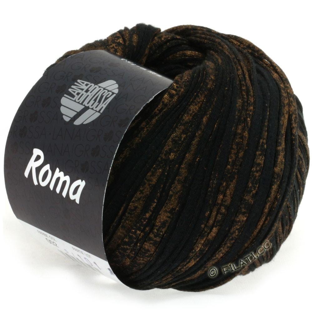 Lana Grossa ROMA | 002-noir/or