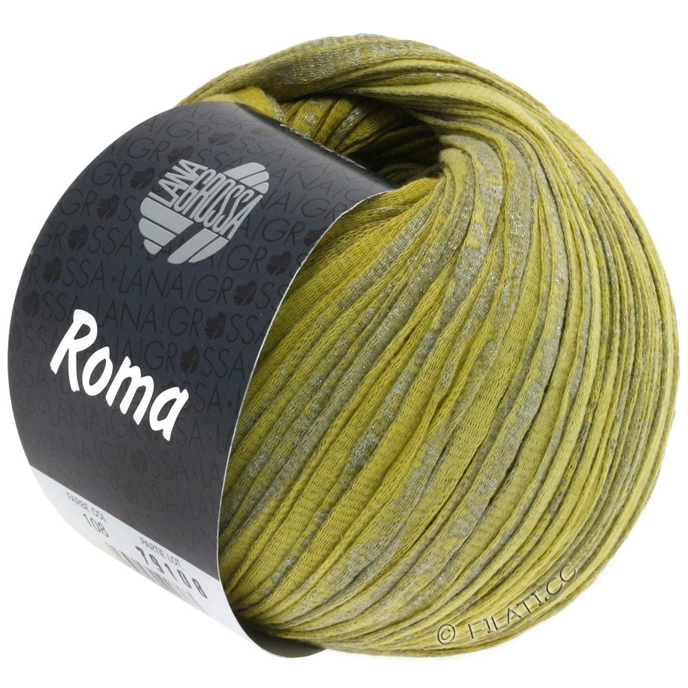 Lana Grossa ROMA | 108-citron vert/jaune moutarde/argent