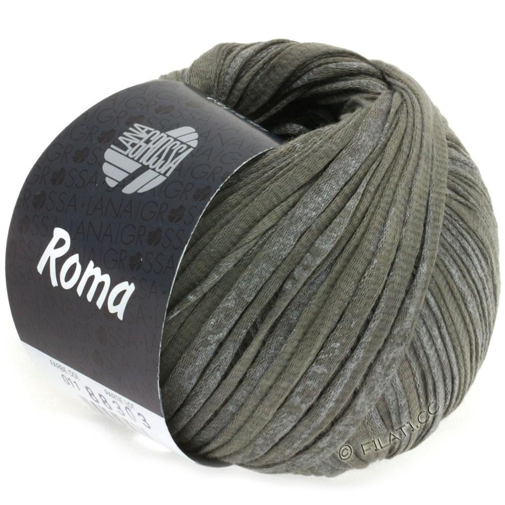 Lana Grossa ROMA | 011-gris foncé/argent