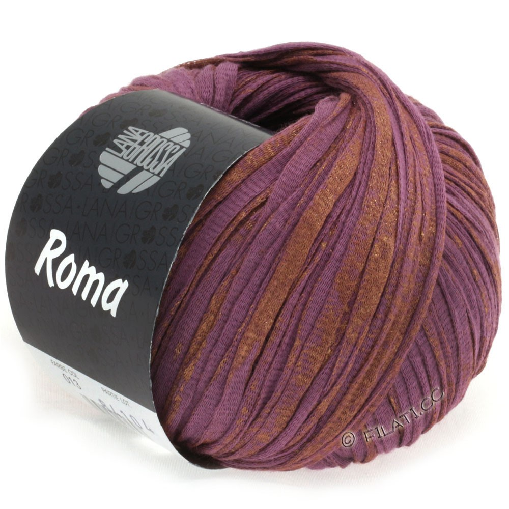 Lana Grossa ROMA | 013-pourpre/cuivre