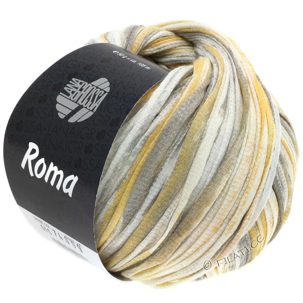 Lana Grossa ROMA | 015-blanc/or/argent