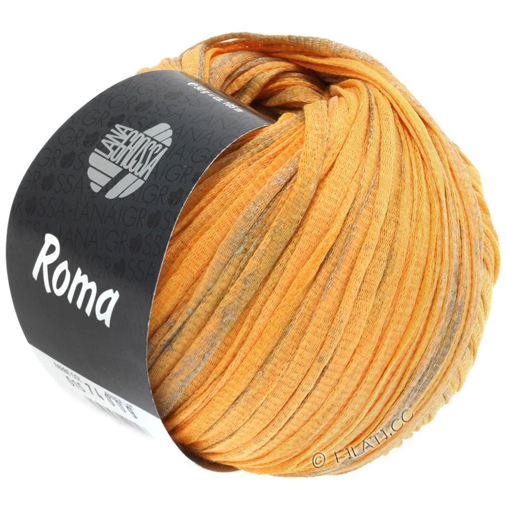 Lana Grossa ROMA | 018-jaune orange/argent/or