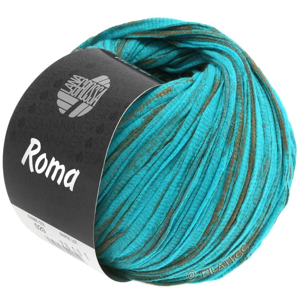 Lana Grossa ROMA | 020-aqua/cuivre/argent