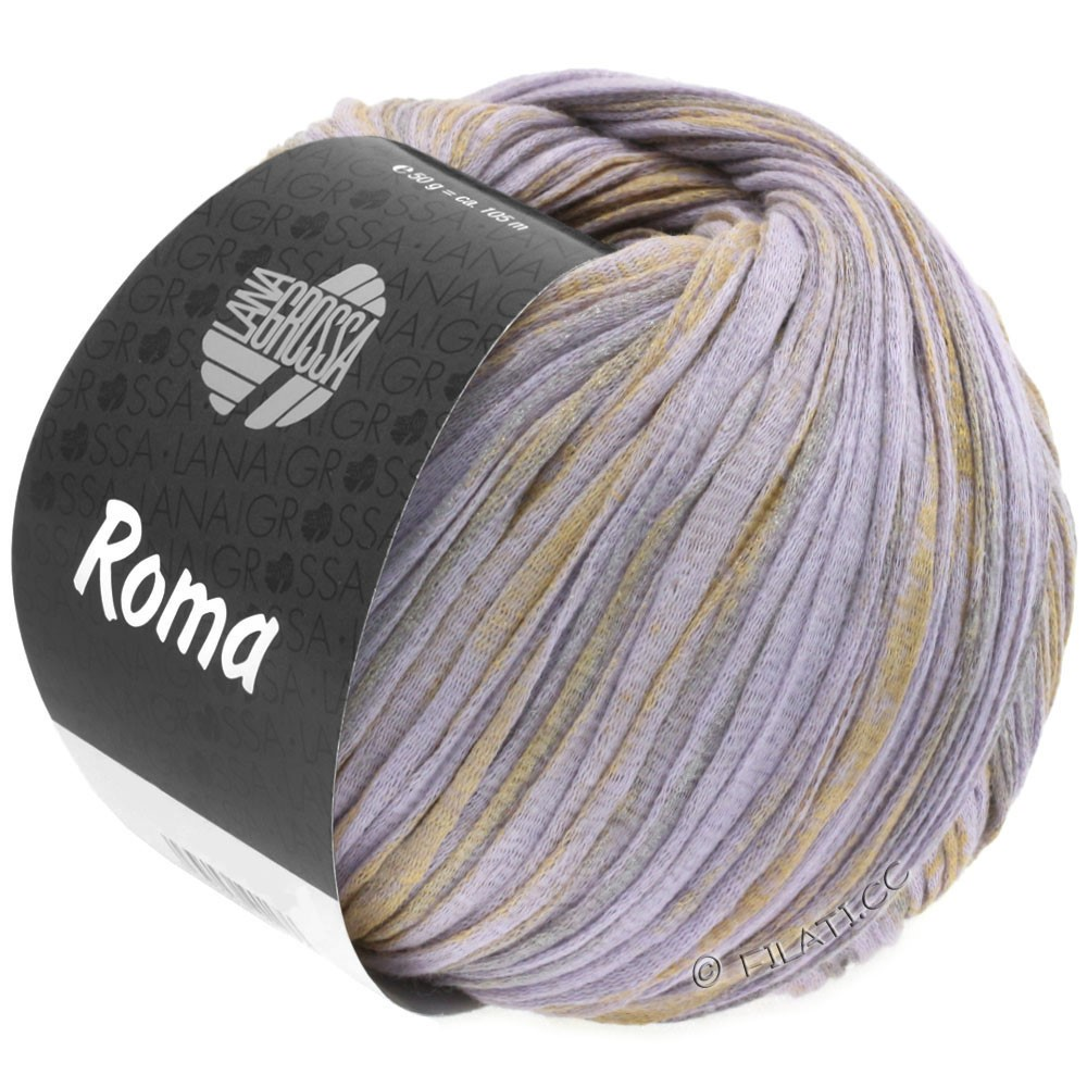Lana Grossa ROMA | 026-pourpre/or/argent