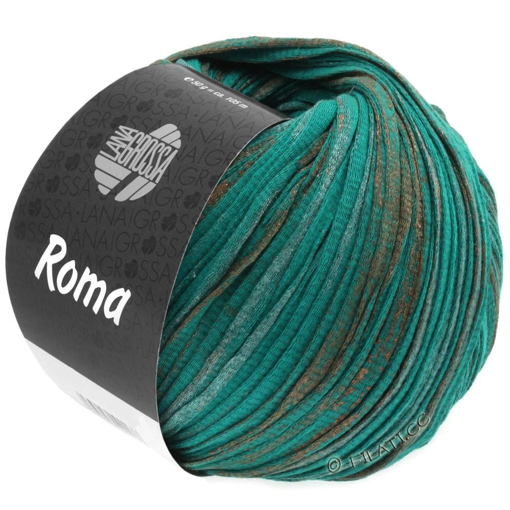Lana Grossa ROMA | 027-vert opale/cuivre/argent