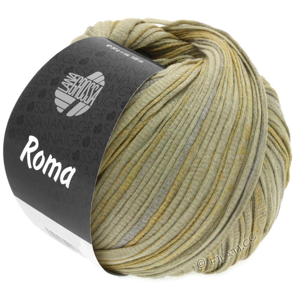 Lana Grossa ROMA | 028-beige vert/argent/or