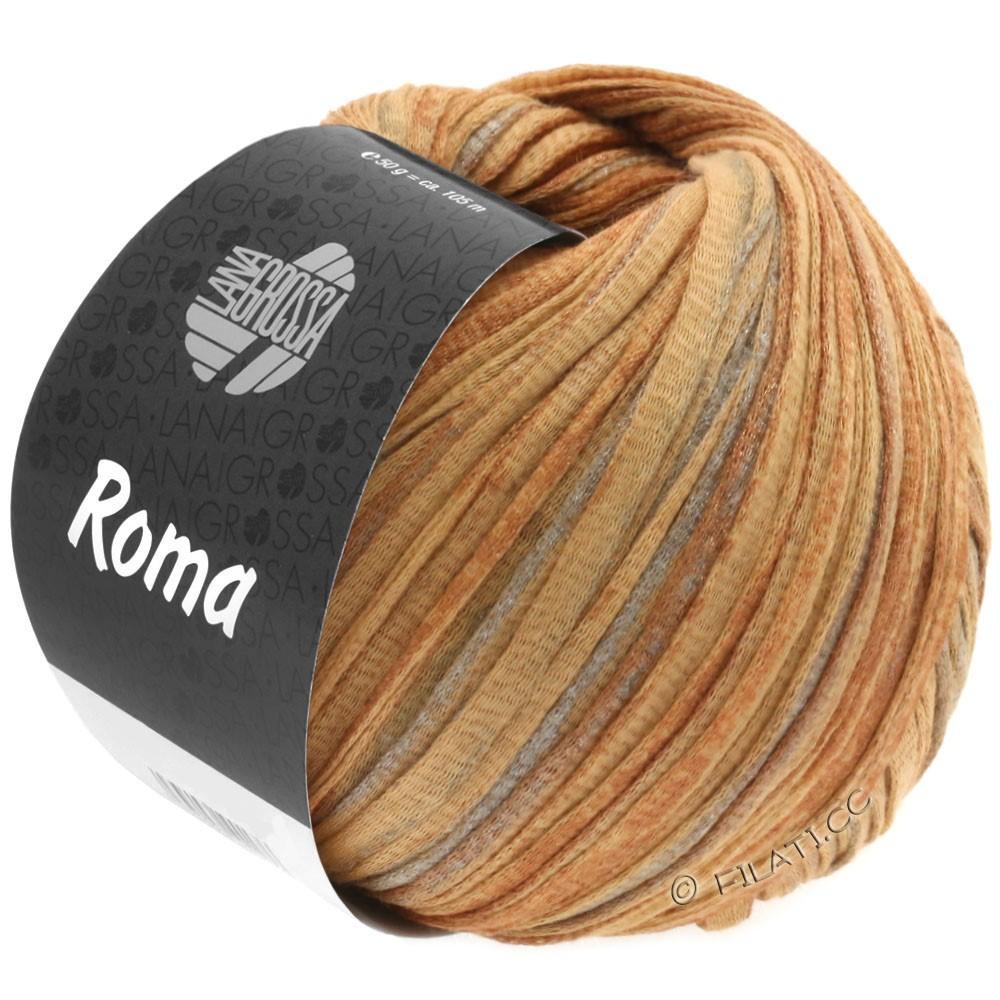 Lana Grossa ROMA | 029-brun doré/cuivre/argent