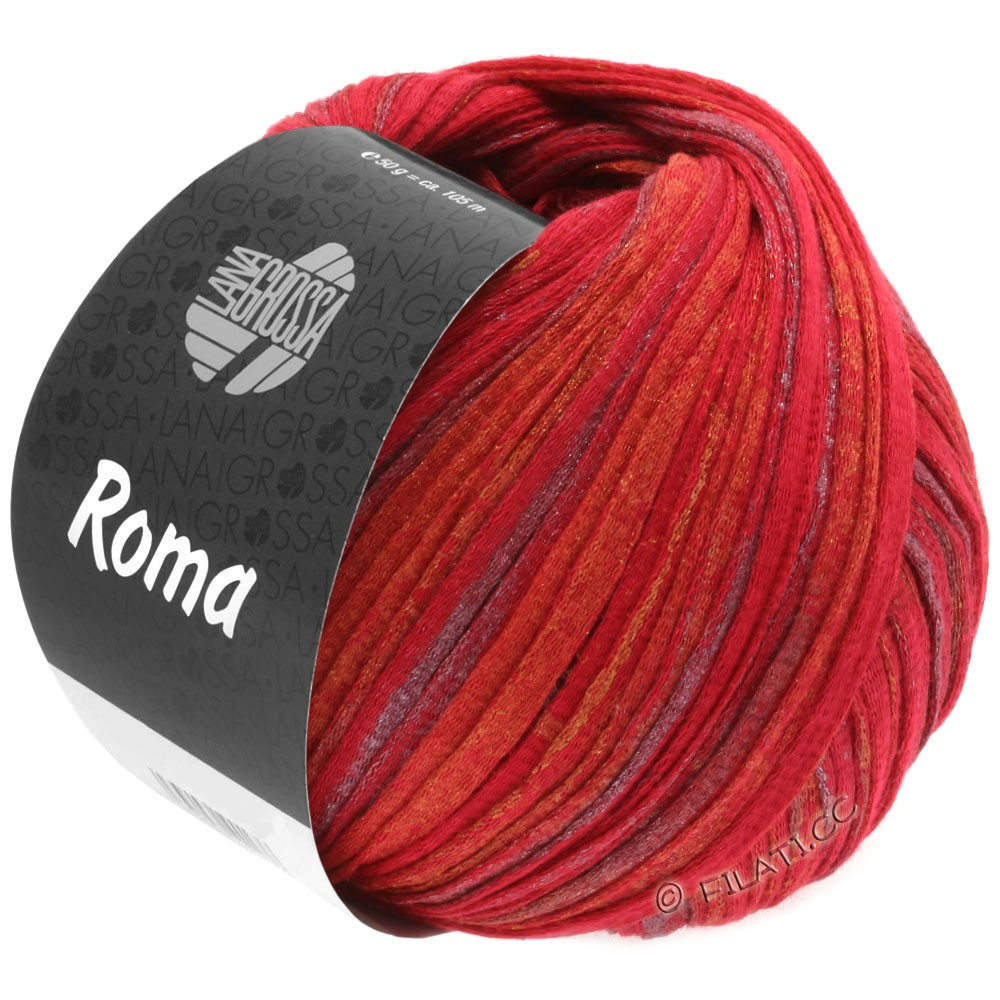 Lana Grossa ROMA | 031-rouge/or/argent