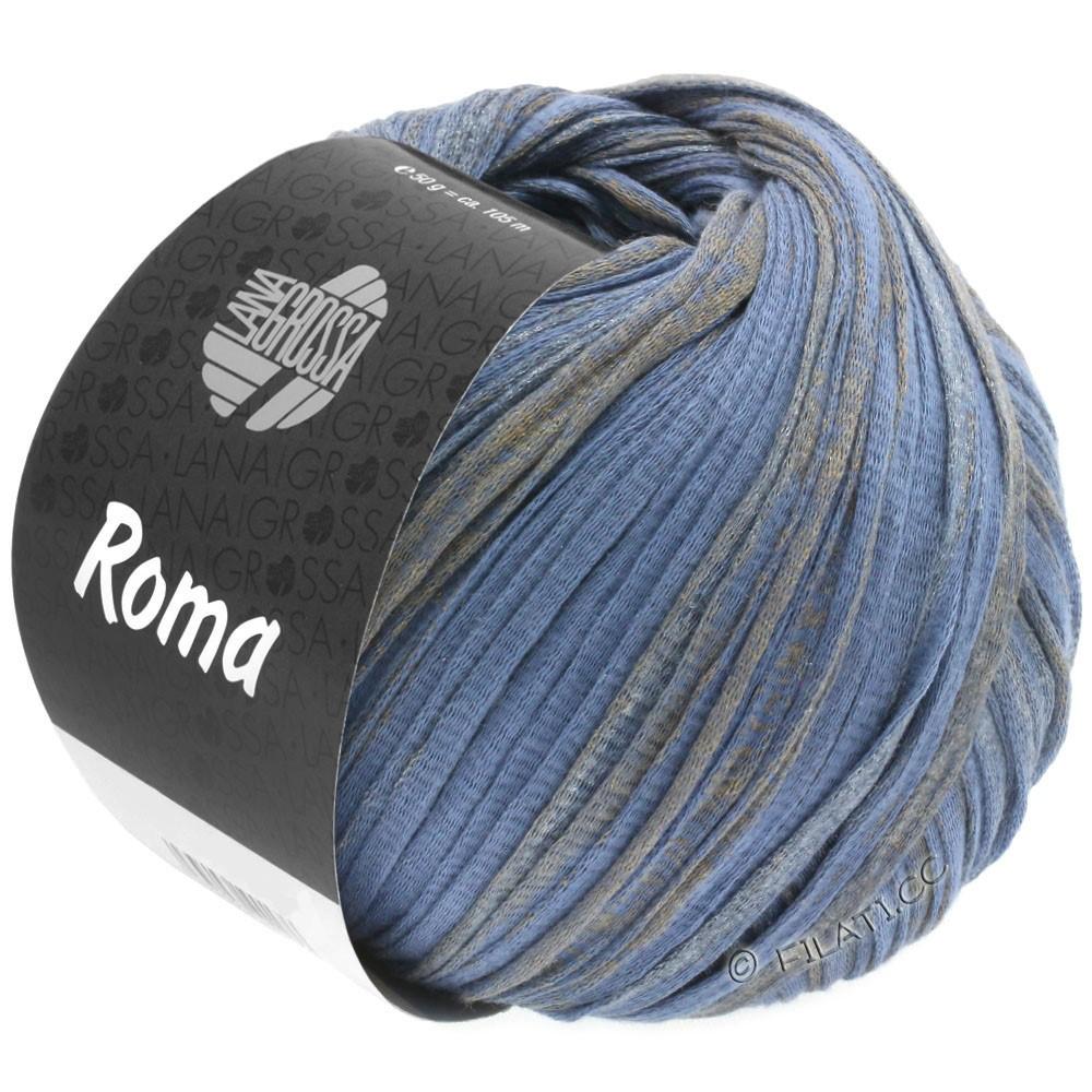 Lana Grossa ROMA | 032-bleu comme violettes/or/argent