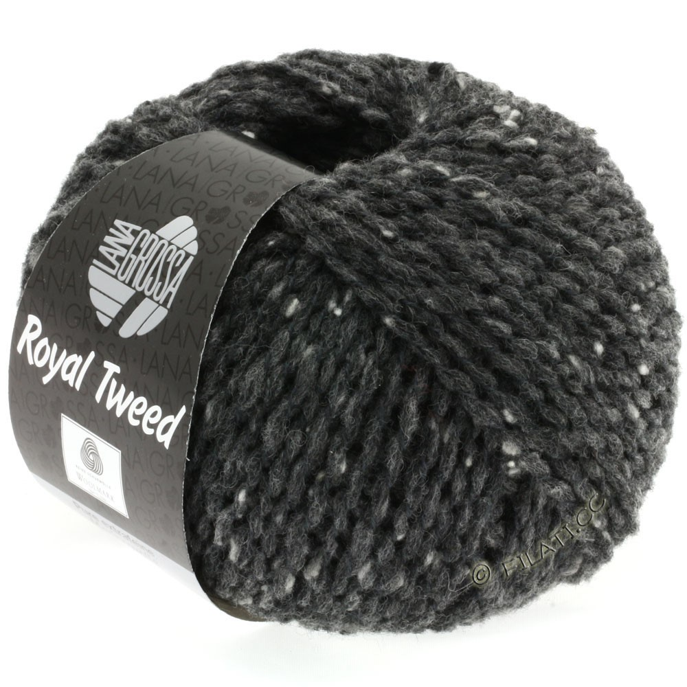 Lana Grossa ROYAL TWEED | 06-anthracite chiné