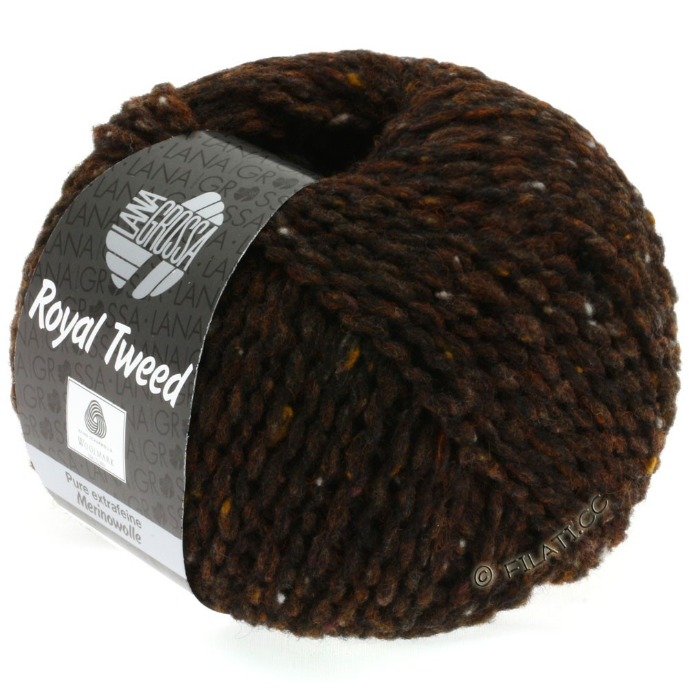Lana Grossa ROYAL TWEED | 09-brun foncé chiné