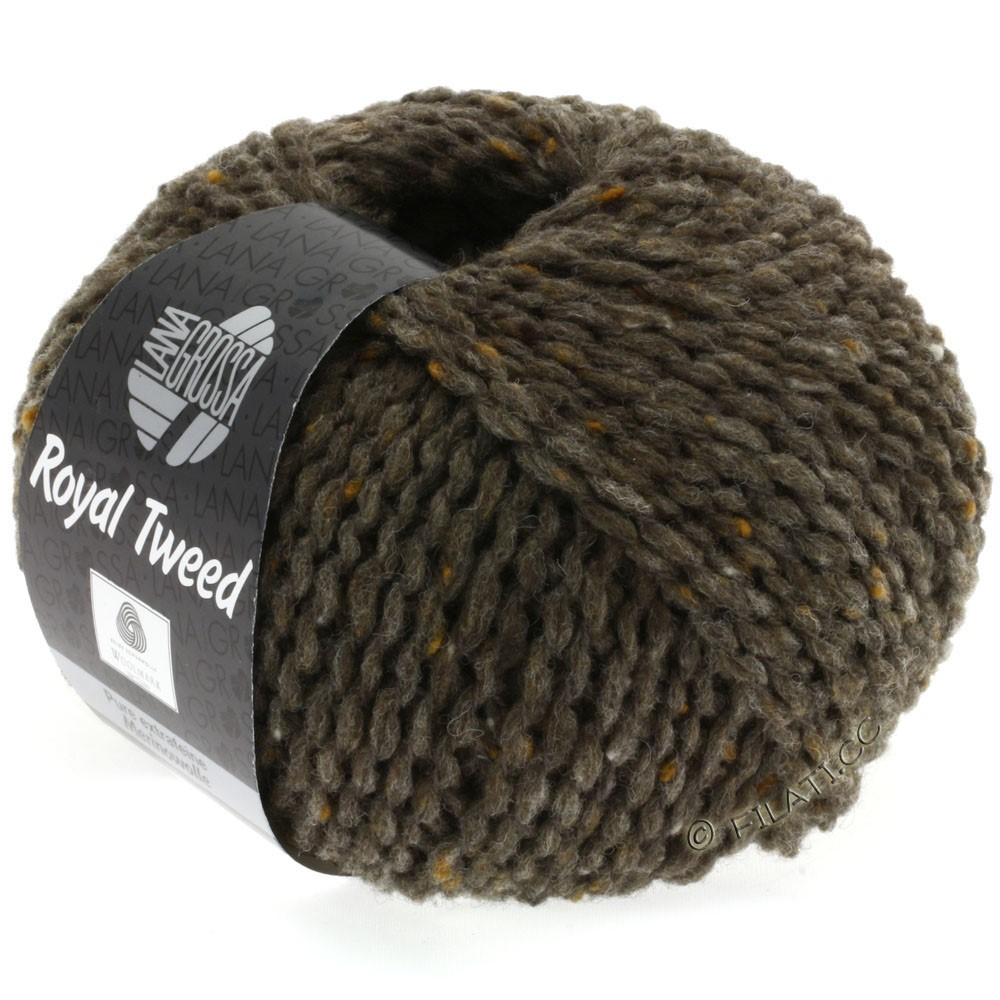 Lana Grossa ROYAL TWEED | 12-brun gris chiné