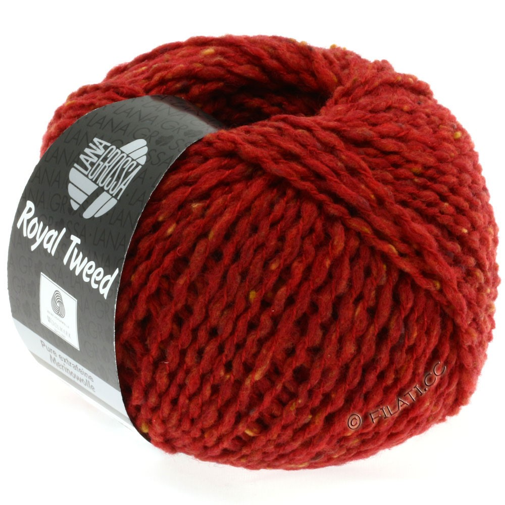 Lana Grossa ROYAL TWEED | 21-rouge brique chiné
