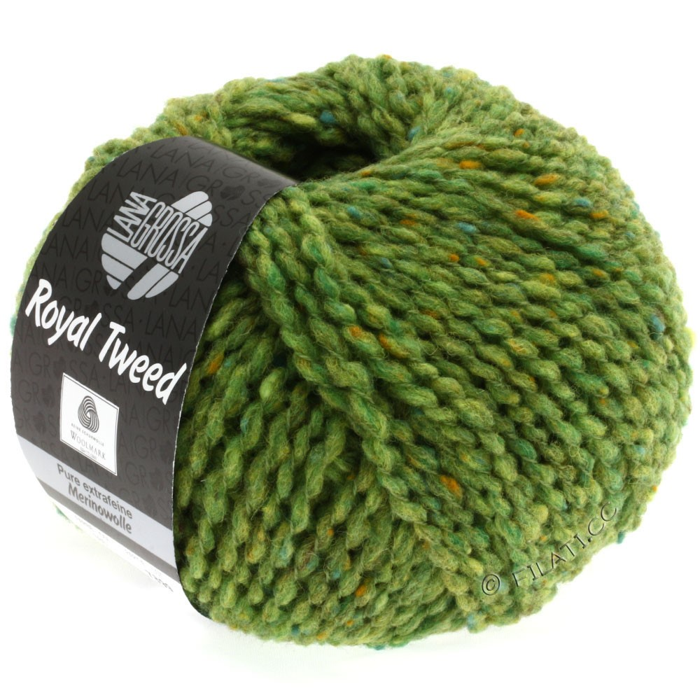 Lana Grossa ROYAL TWEED | 52-vert clair chiné