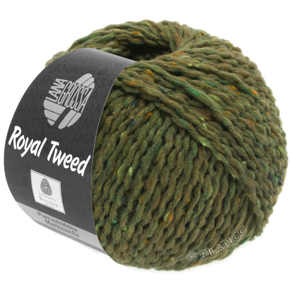 Lana Grossa ROYAL TWEED | 69-olive chiné