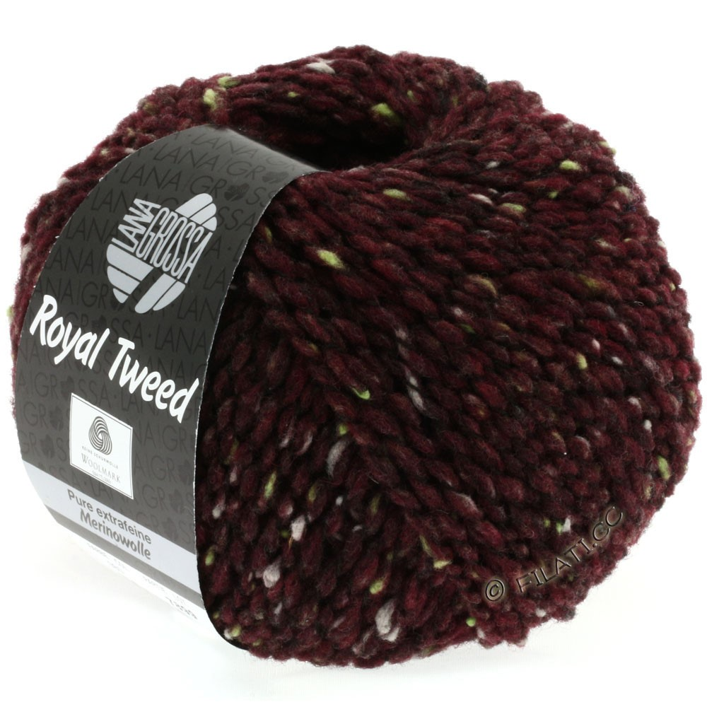 Lana Grossa ROYAL TWEED | 71-bourgogne chiné