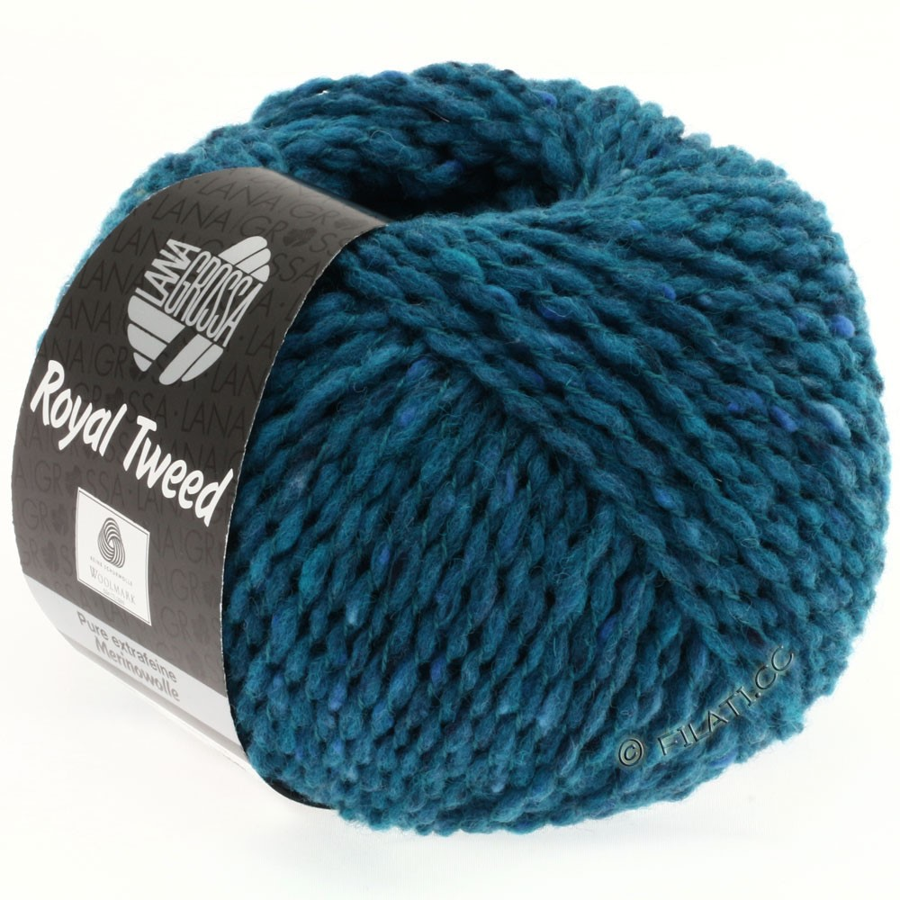 Lana Grossa ROYAL TWEED | 77-bleu pétrole chiné