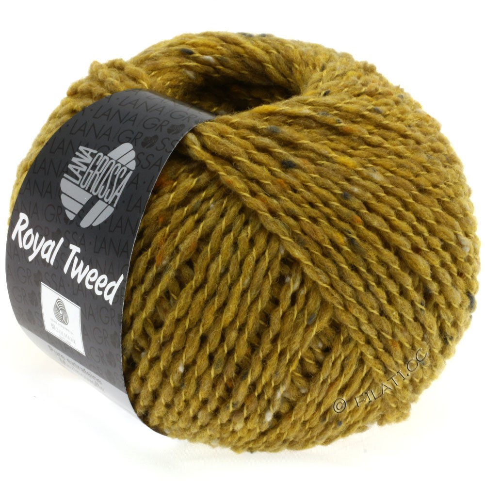 Lana Grossa ROYAL TWEED | 80-moutarde chiné