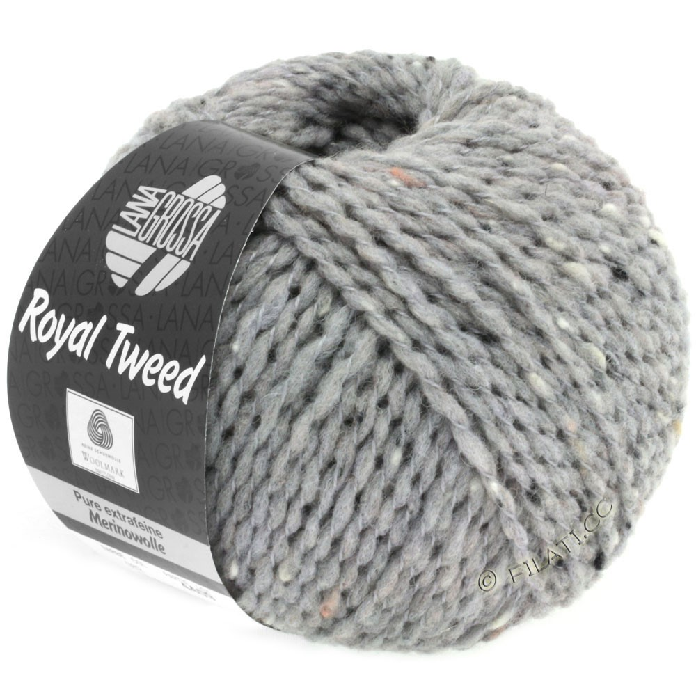 Lana Grossa ROYAL TWEED | 82-gris clair chiné