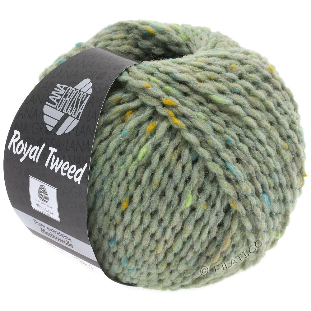 Lana Grossa ROYAL TWEED | 83-menthe chiné