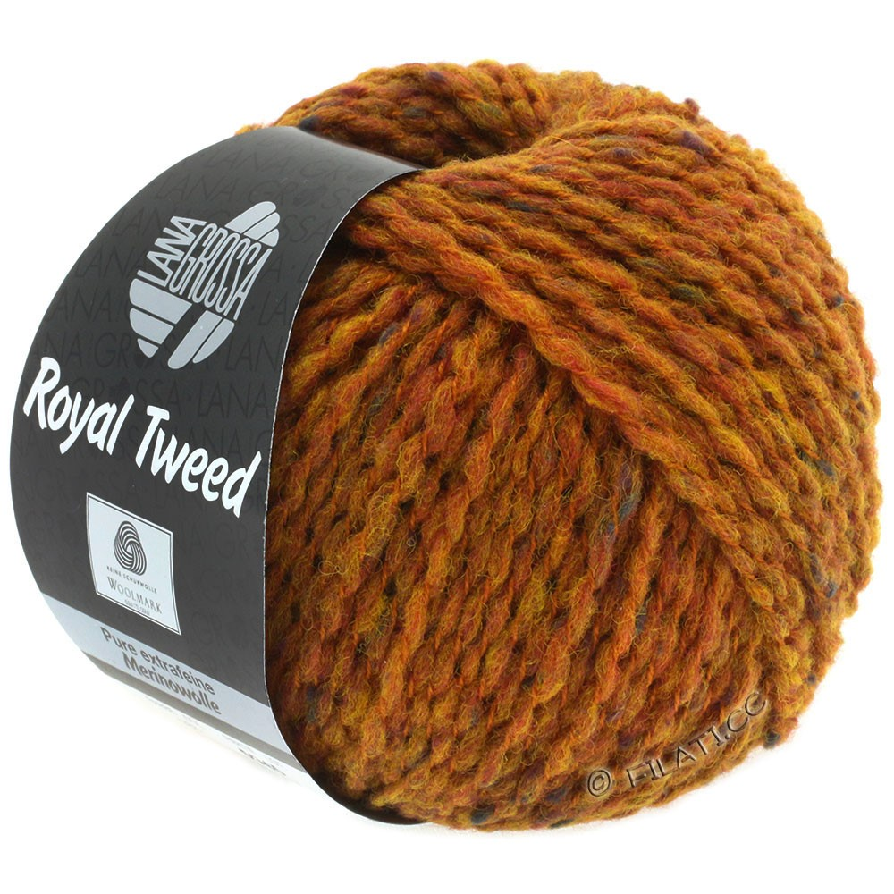 Lana Grossa ROYAL TWEED | 86-brun doré chiné