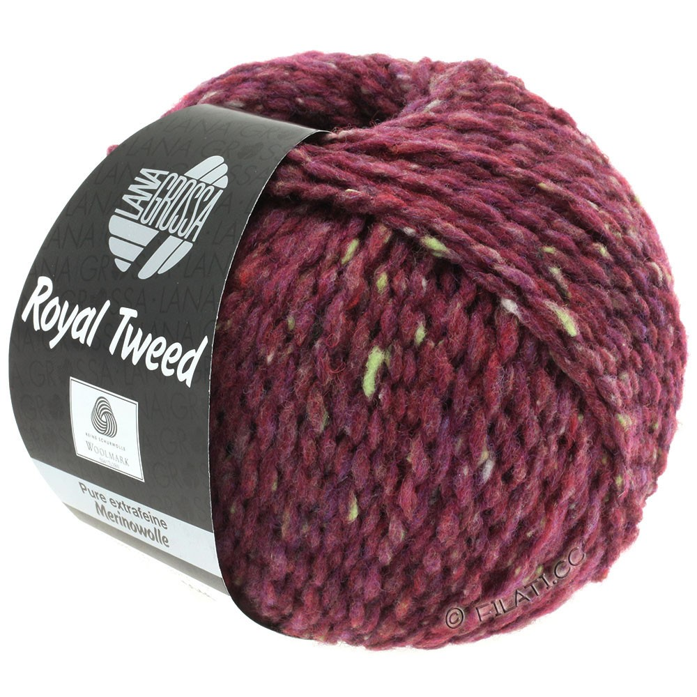 Lana Grossa ROYAL TWEED | 87-bordeaux chiné