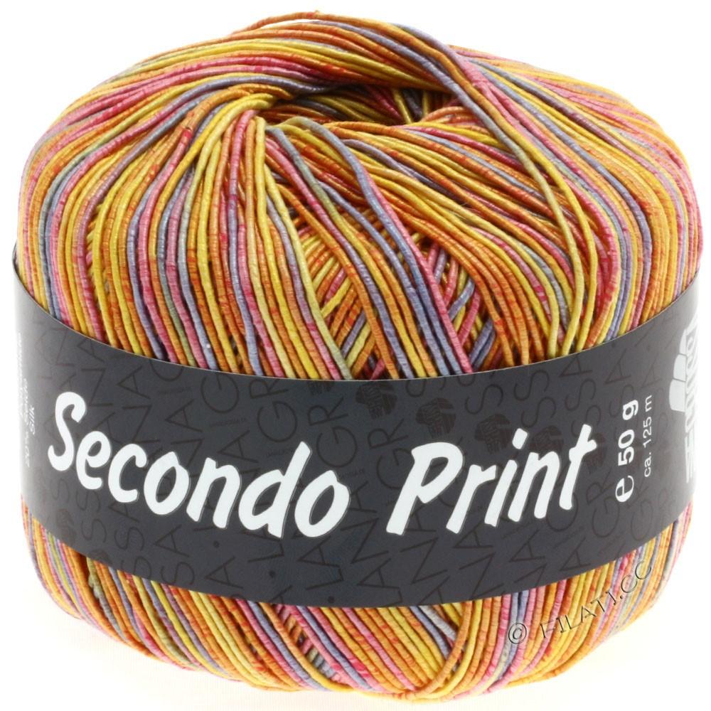 Lana Grossa SECONDO Print II | 501-jaune/orange/pourpre/rose vif