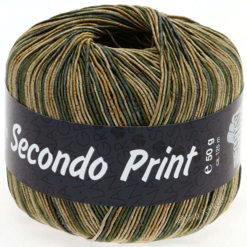 Lana Grossa SECONDO Print II | 509-doré/gris vert/beige