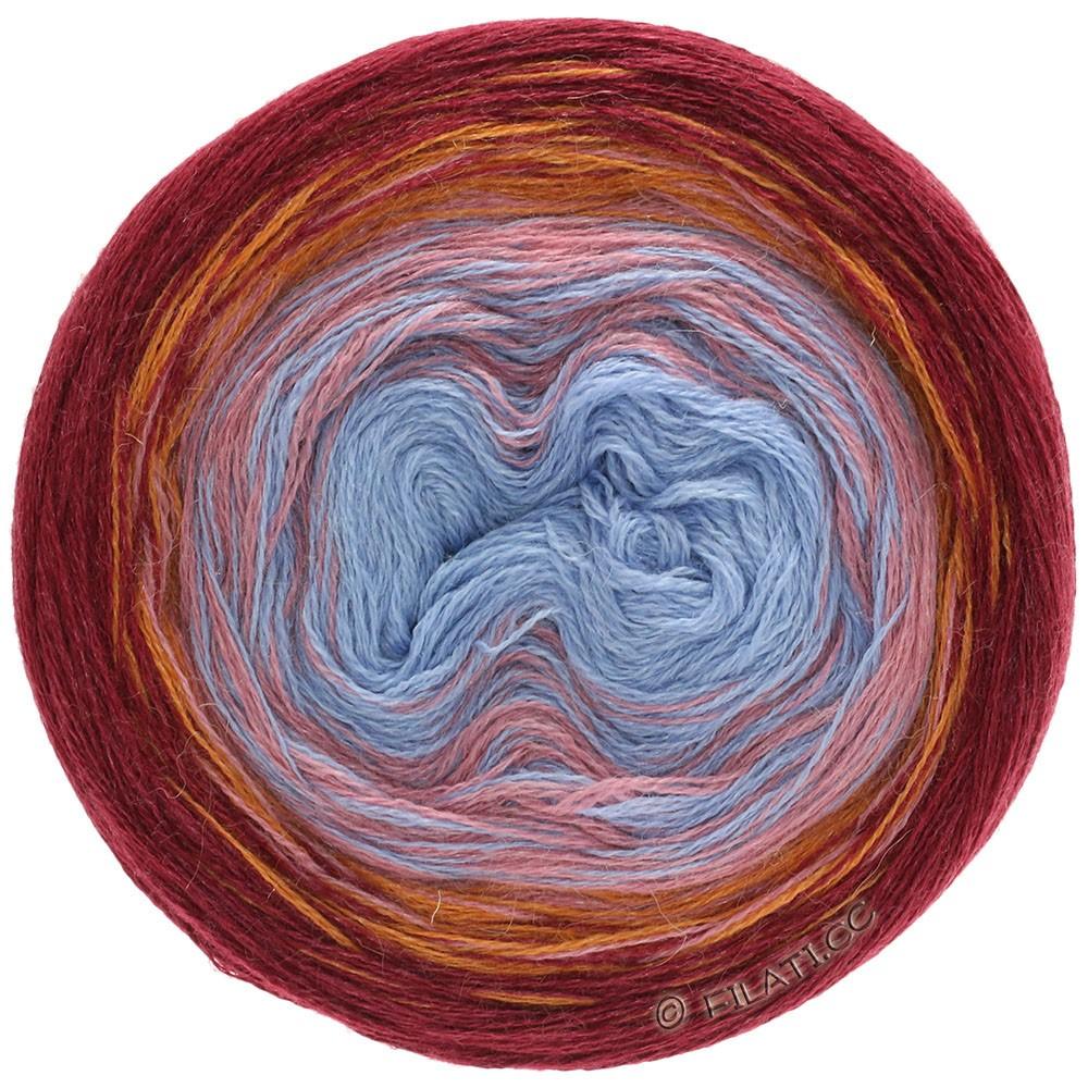 Lana Grossa SHADES OF ALPACA SILK | 301-bordeaux/orange/rose beige/bleu