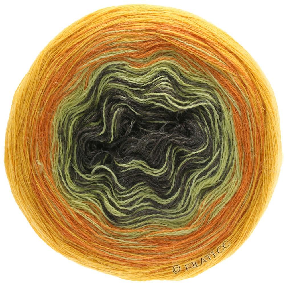 Lana Grossa SHADES OF ALPACA SILK | 308-jaune soleil/orange/moutarde/moka