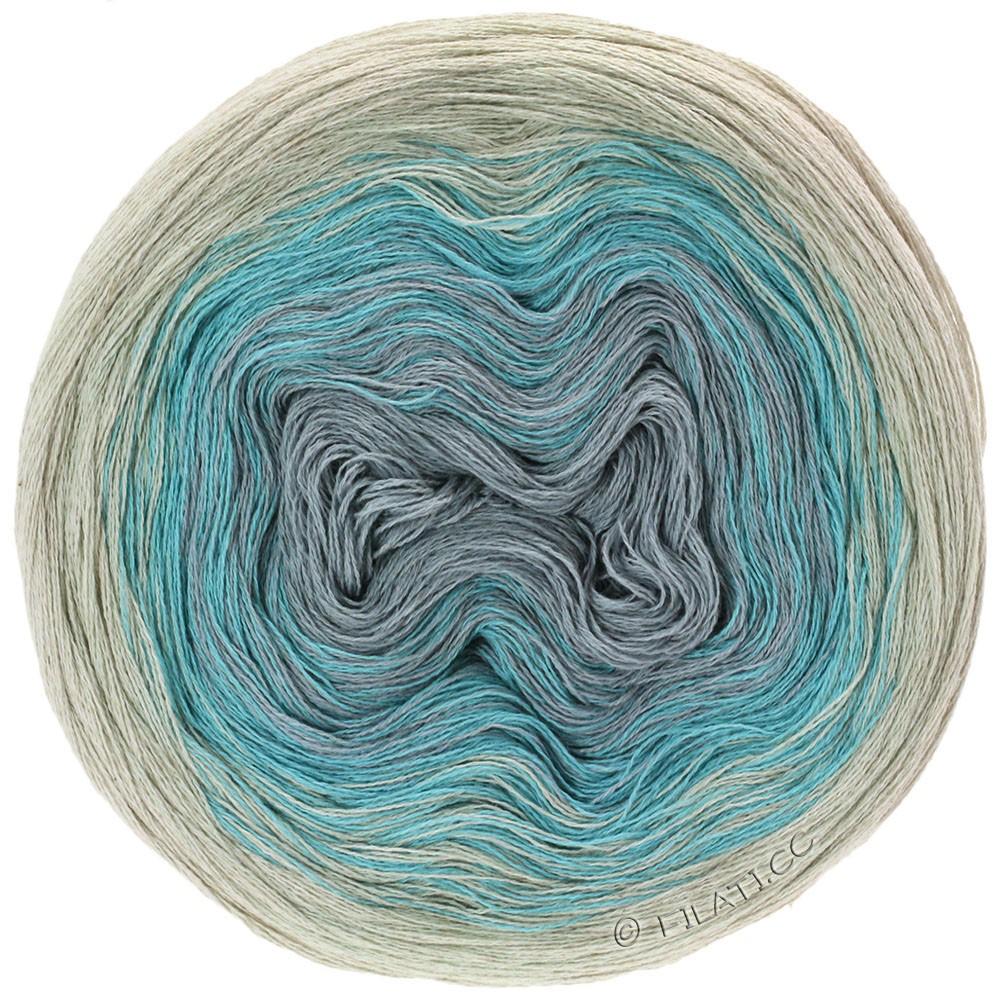 Lana Grossa SHADES OF COTTON LINEN | 704-nature/bleu clair/gris clair/gris