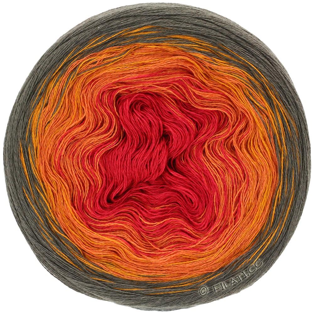 Lana Grossa SHADES OF COTTON LINEN | 707-moka/doré/orange/rouge