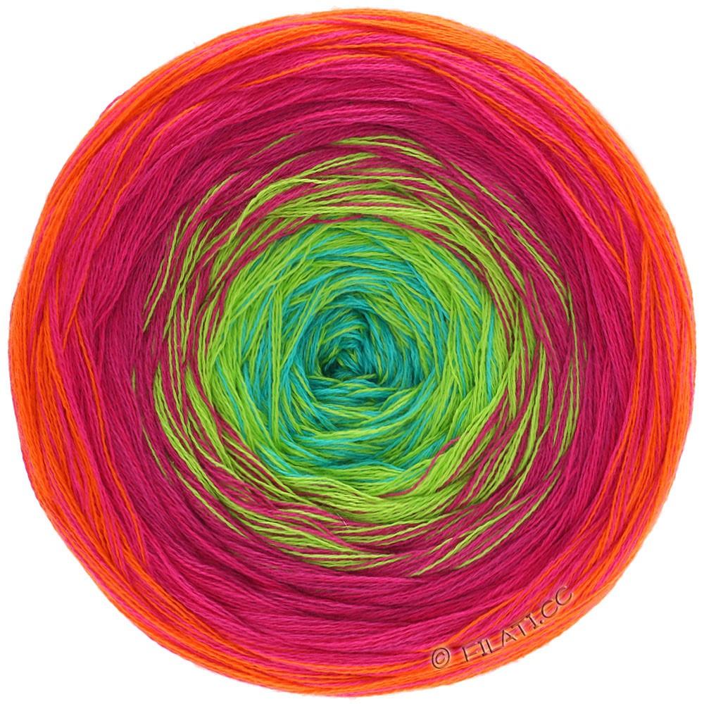 Lana Grossa SHADES OF COTTON | 101-orange/rouge/cyclamen/vert jaune/turquoise