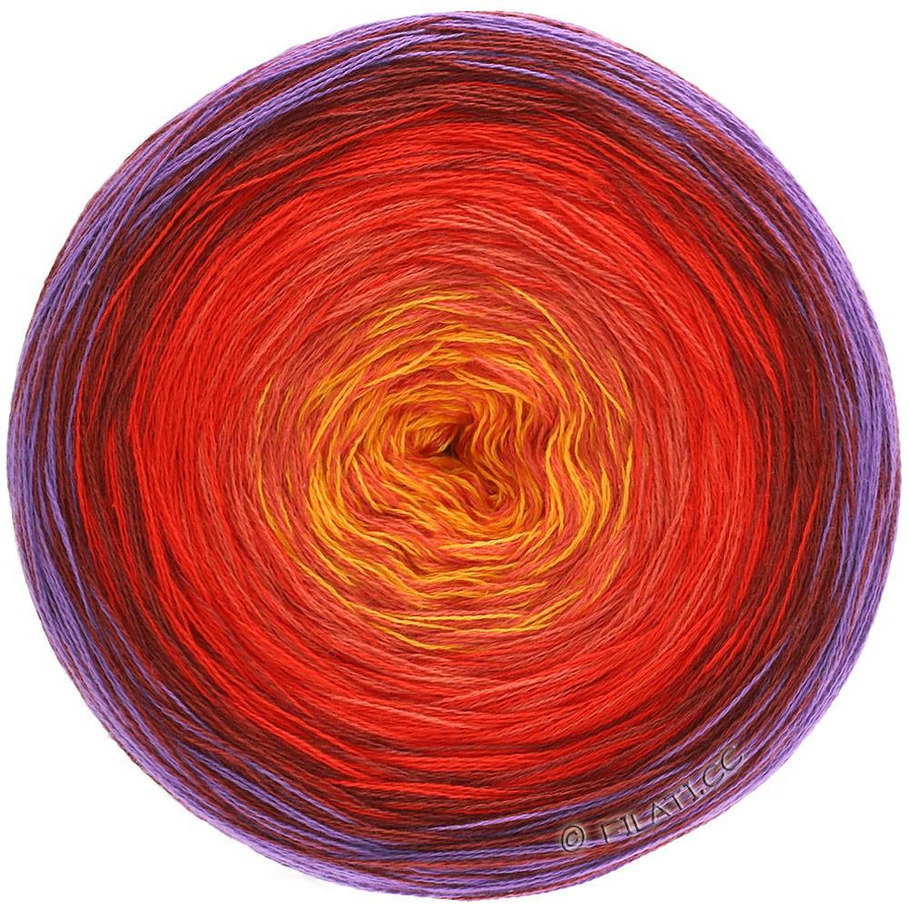 Lana Grossa SHADES OF COTTON | 103-violet/bourgogne/rouge/orange/jaune