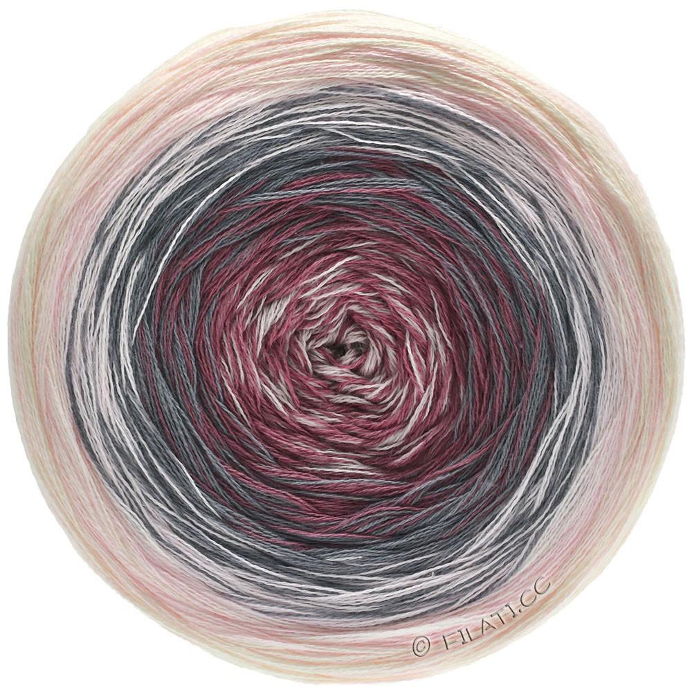 Lana Grossa SHADES OF COTTON | 104-rose/gris foncé/bourgogne/poudre