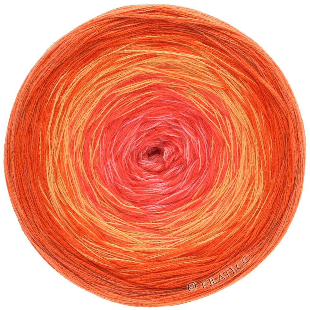 Lana Grossa SHADES OF COTTON | 105-mandarine/orange clair/saumon/rose