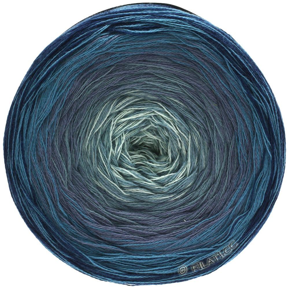 Lana Grossa SHADES OF COTTON | 106-marine/bleu foncé/bleu pigeon/gris bleu/gris blanc