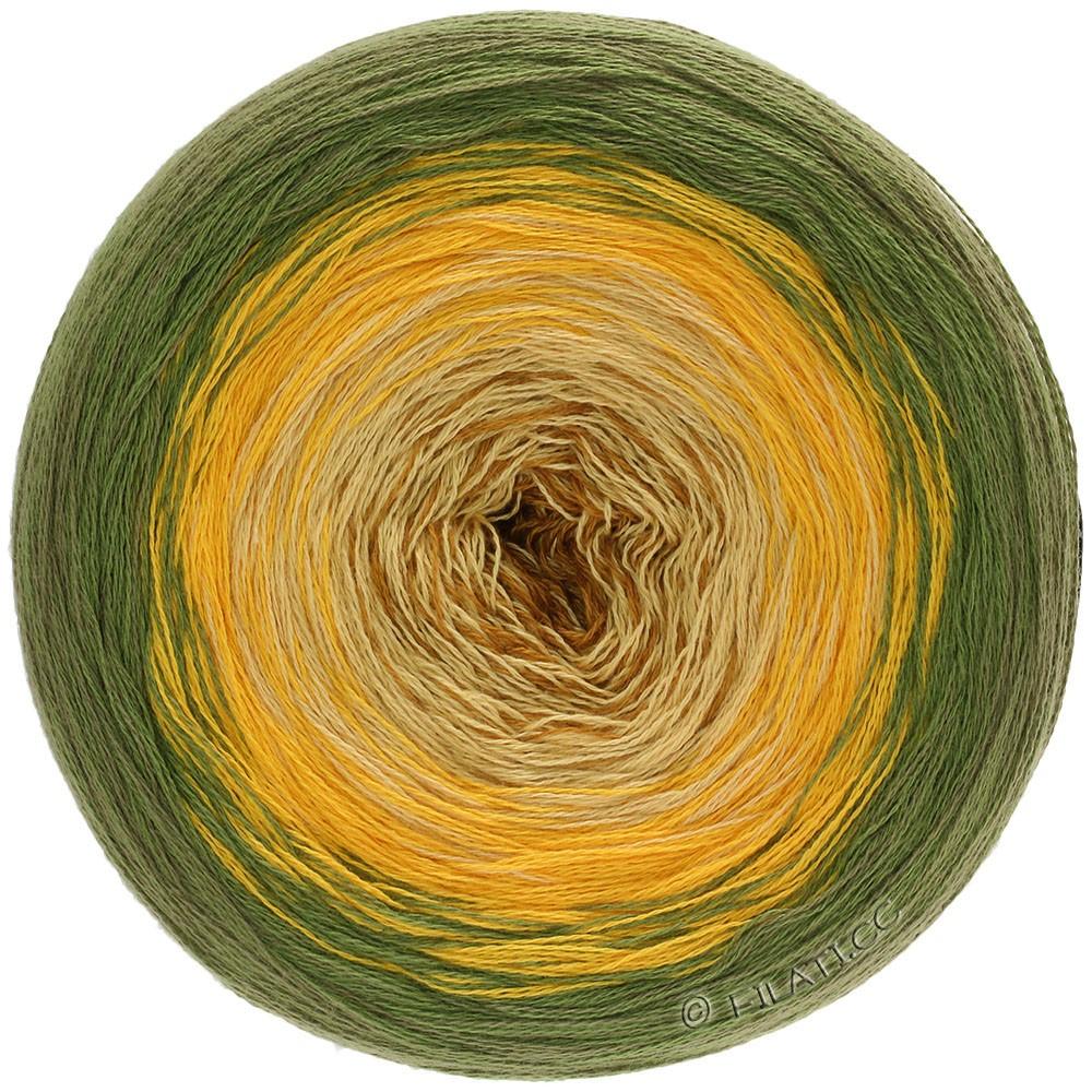 Lana Grossa SHADES OF COTTON | 108-olive/jaune soleil/jaune clair/chameau