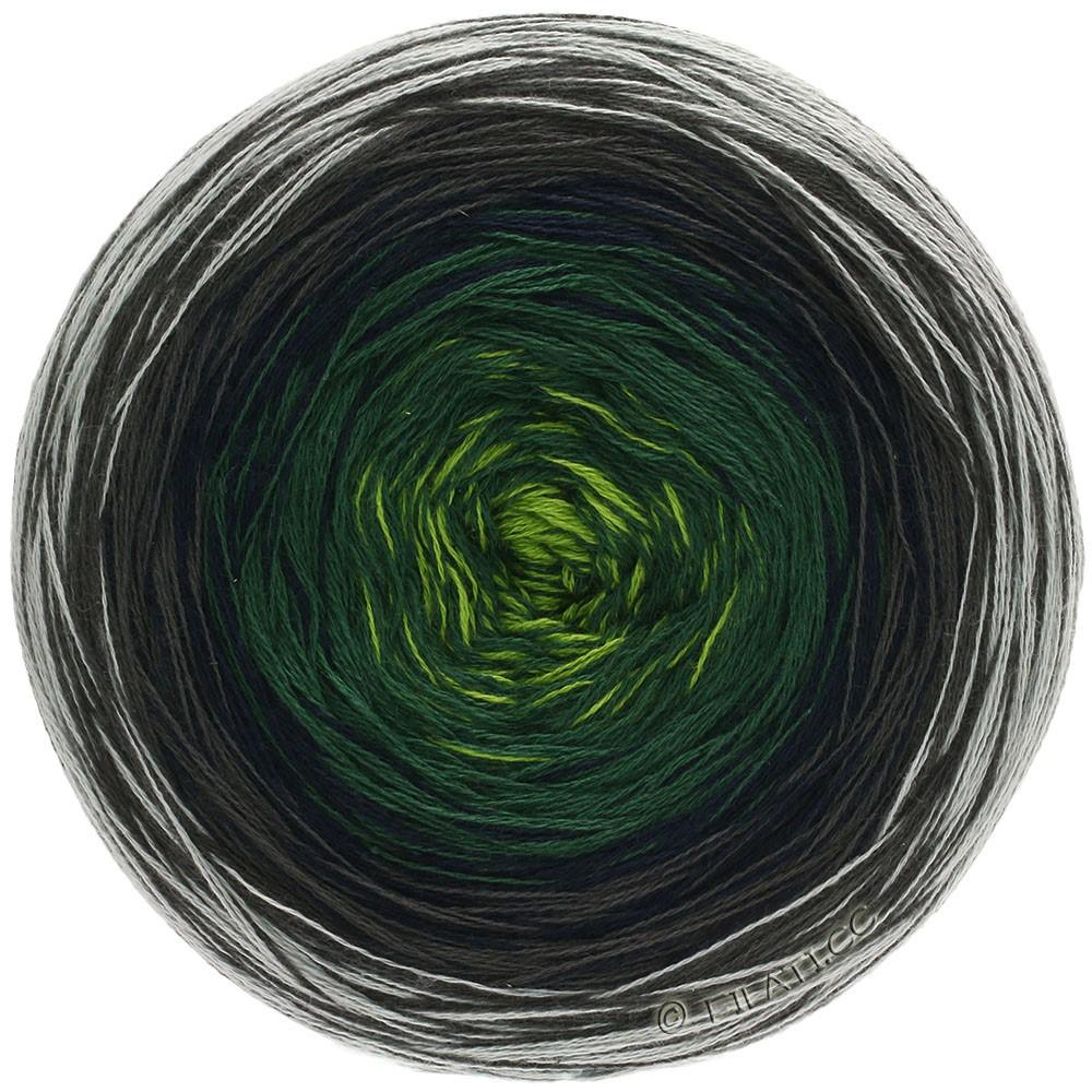 Lana Grossa SHADES OF COTTON | 109-gris/gris brun/bleu nuit/sapin/vert jaune