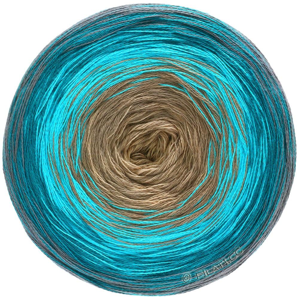 Lana Grossa SHADES OF COTTON | 110-gris/bleu pétrole/turquoise/beige