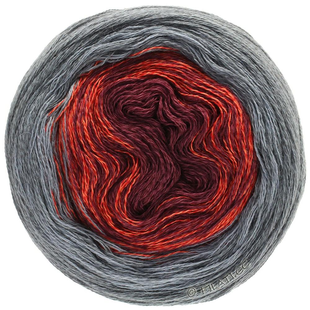 Lana Grossa SHADES OF MERINO COTTON | 405-rouge foncé/rouge clair/gris/gris foncé