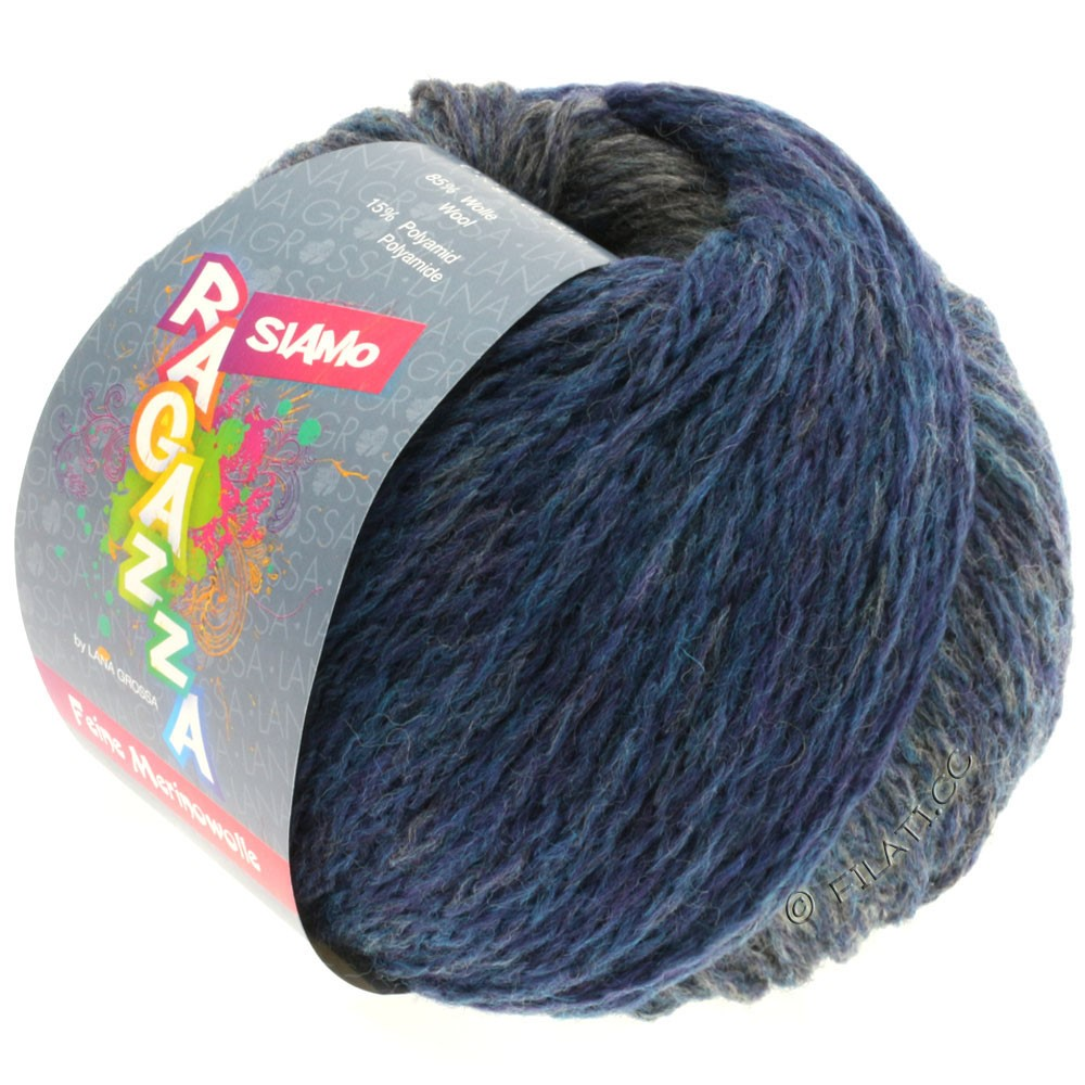 Lana Grossa SIAMO (Ragazza) | 06-bleu/gris chiné