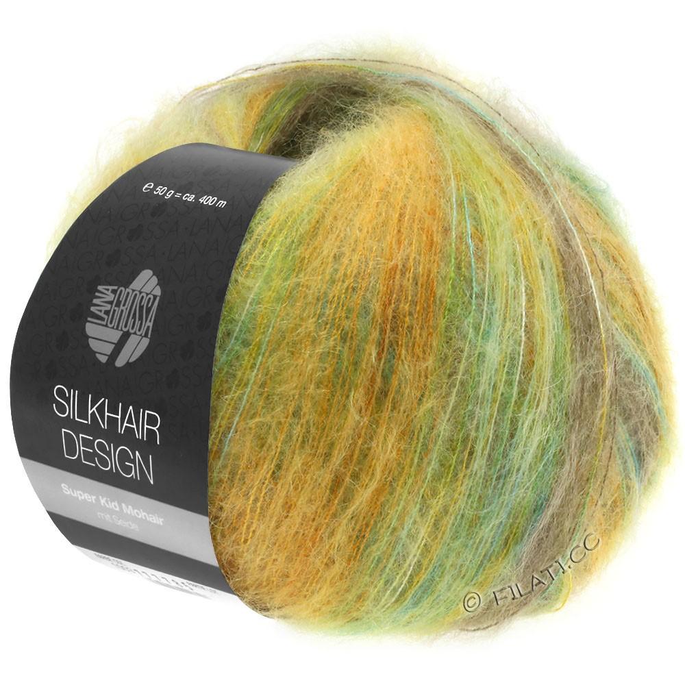Lana Grossa SILKHAIR Design | 1002-turquoise/beige/doré/olive/vert jaune