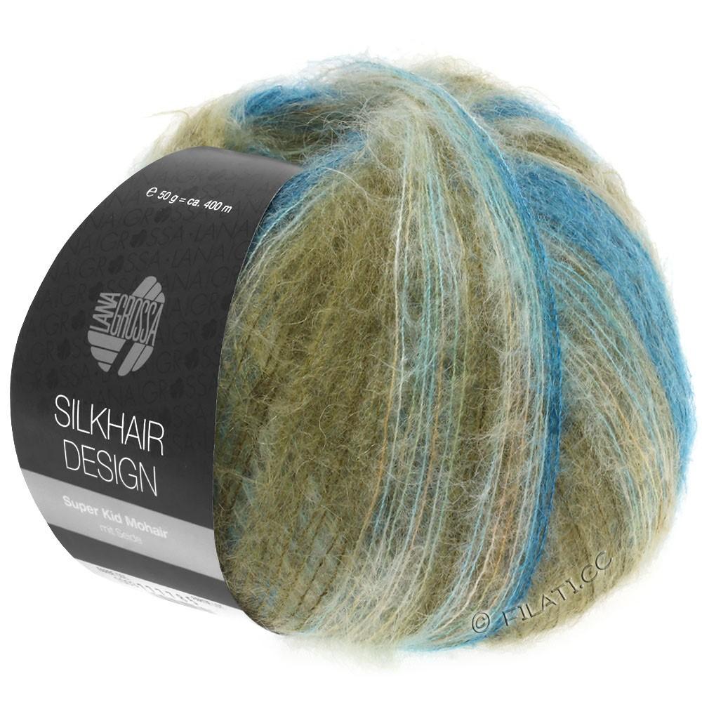 Lana Grossa SILKHAIR Design | 1006-pétrole/turquoise bleu/kaki/nature/chameau