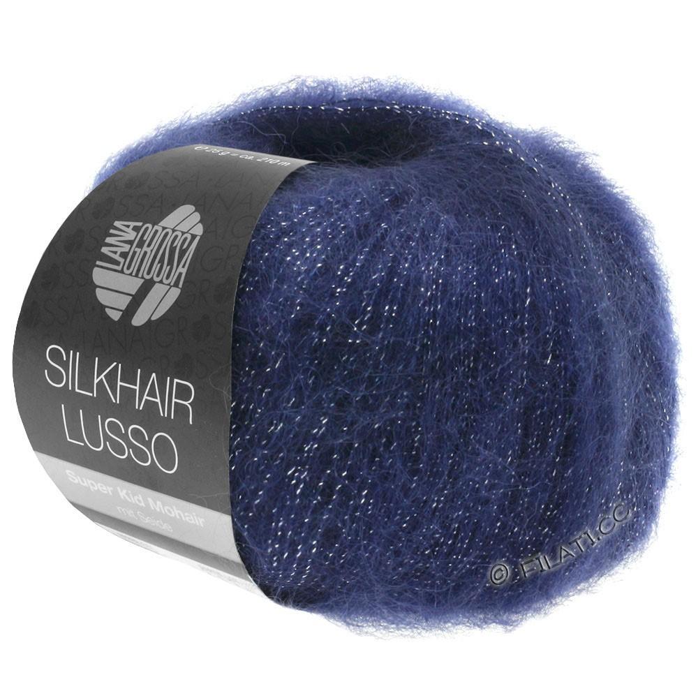 Lana Grossa SILKHAIR Lusso | 907-bleu foncé