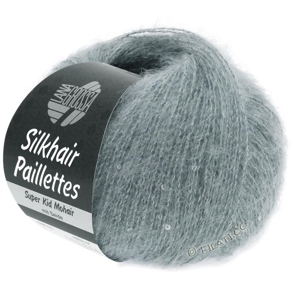 Lana Grossa SILKHAIR Paillettes | 410-gris